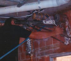 masons drilling wall